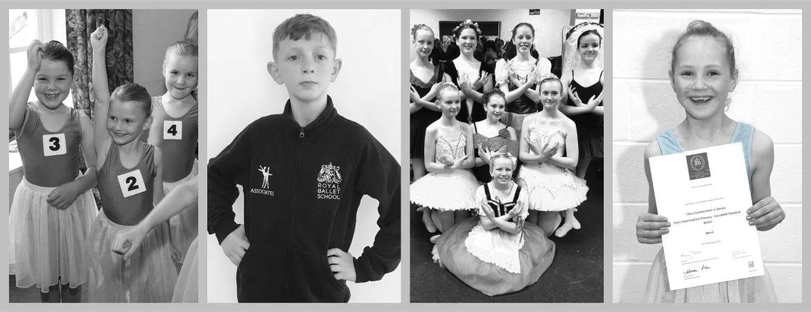 collage showing young dancers celebrating success