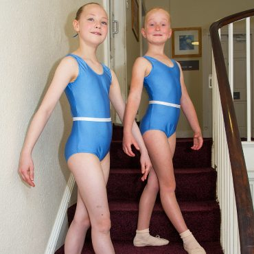image showing two young grade 1 dancers