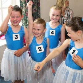 image showing a group of young dancers after their ballet exam