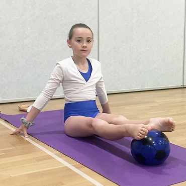 Image showing young dancer doing strength exercises