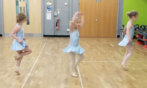 Image showing three little dancers in action