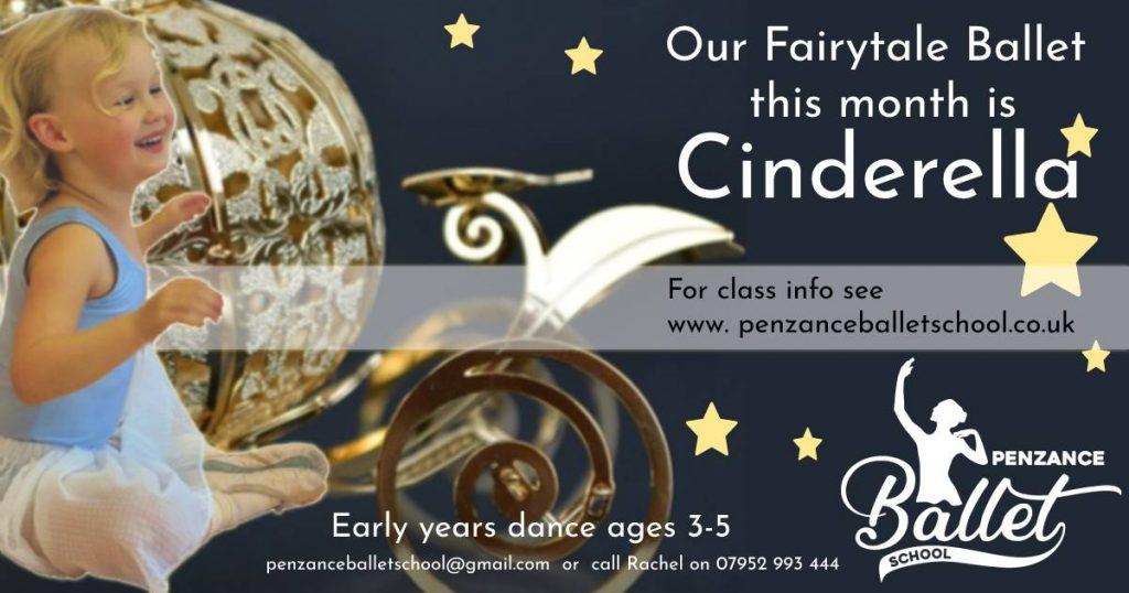 Advert for Cinderella ballet